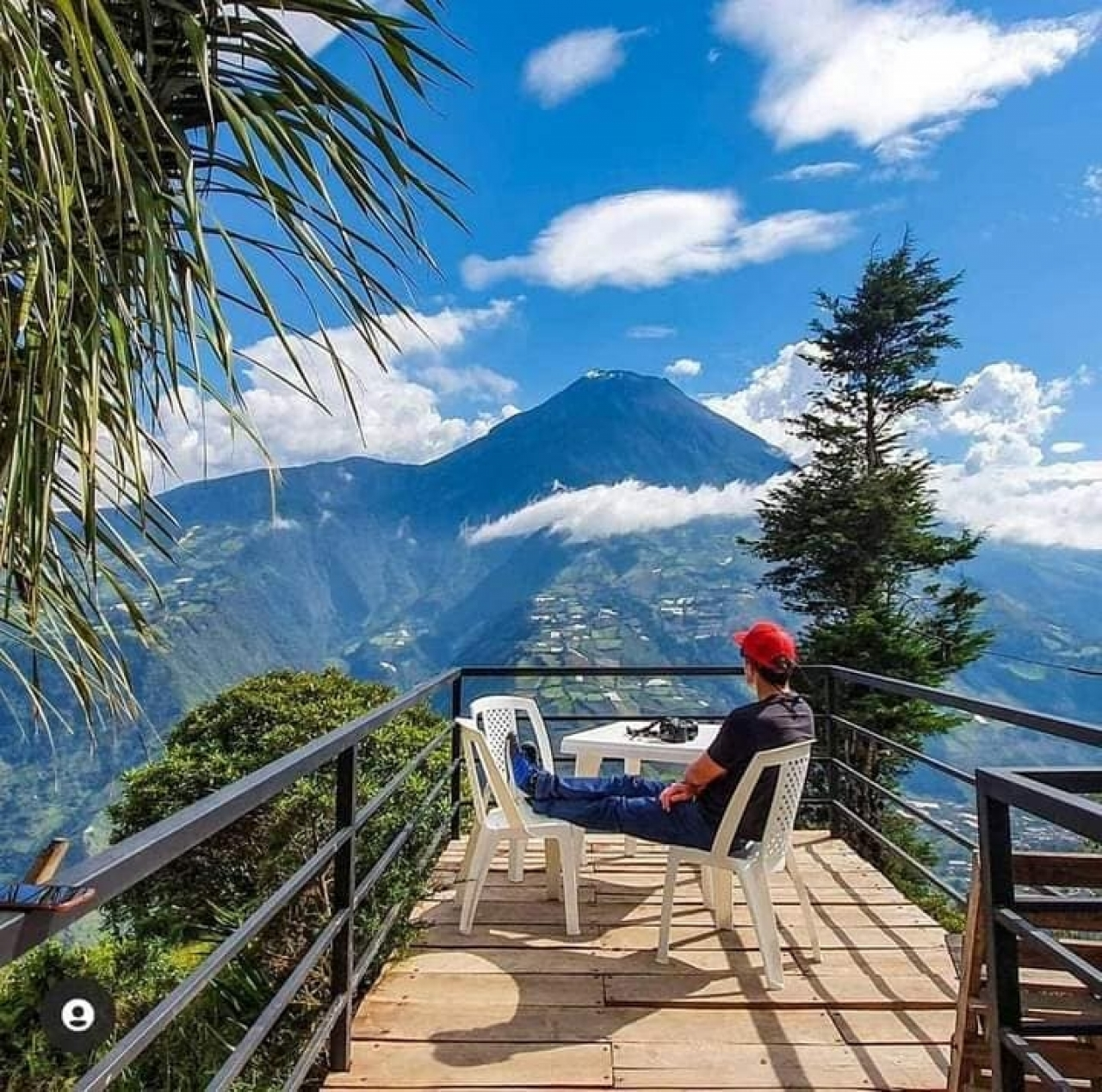 Baños de agua santa Mirador Ojos de volcán2
