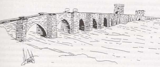 Puente de Piedra (dibujo hipotético puente antigüo).jpg