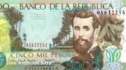billetes de Colombia 13-08-2018