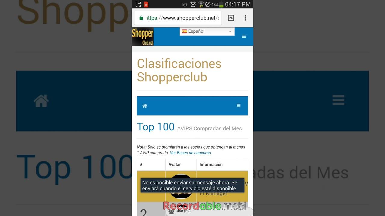 Shopper Club - Bonos Y Premios Mensuales