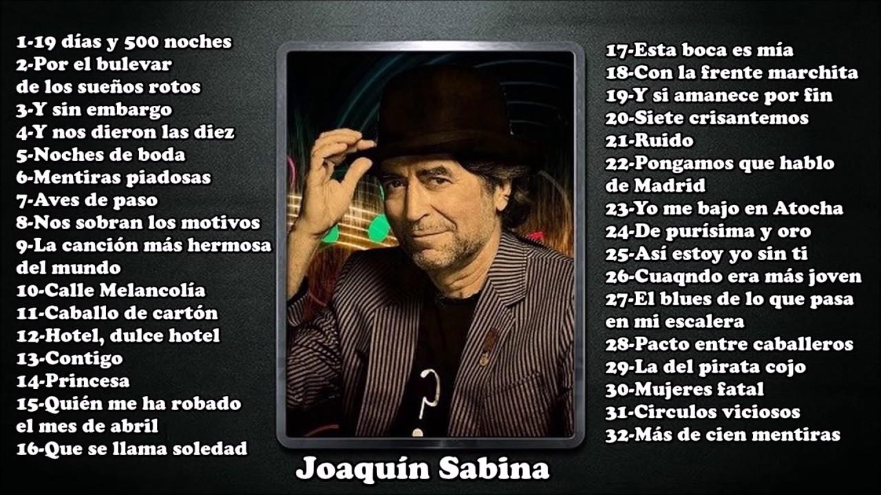 32 mejores canciones de Joaquín Sabina