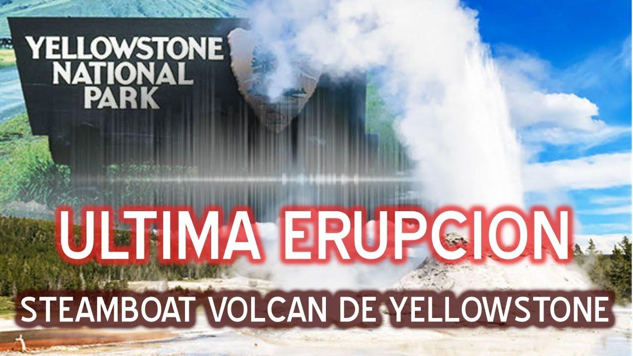 Erupcion del steamboat en el volcan de yellowstone #yellowstone #steamboat
